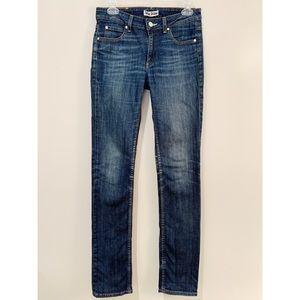 Acne Mid-Rise Medium Wash Skinny Jeans